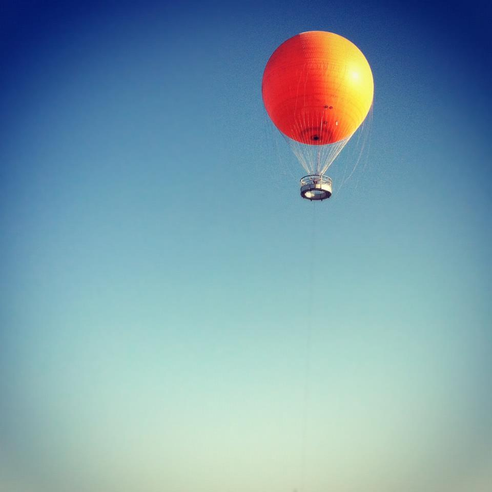 Looking up at Orange Balloon